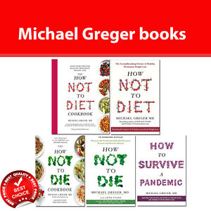 How Not To Diet, How Not To Die Cookbook by Michael Greger Collection Books Set