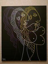 Tableau Peinture art abstrait deco street acrylique sur toile  signé moderne
