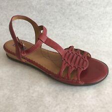 Clarks Indigo Shoes Size 10 M Red Sandals 84026 Open Toe Low Heel
