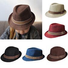 UK Baby Kids Fedora Gangster Hats Children Top Hat Spring/Autumn Caps Jazz Cap