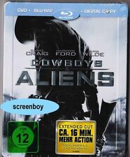 """COWBOYS & ALIENS"" - SciFi Action - Daniel Craig - BLU RAY STEELBOOK - geprägt"