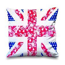 Floral Union Jack Faux Silk 45cm x 45cm Sofa Cushion