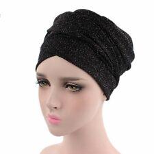 Turban Breathable Mesh Shimmer Long Head Scarf Wrap Cap Muslim Women Tube Hijab
