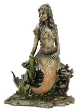 Art Nouveau Mermaid Statue Sculpture Figurine Collectible Fantasy Ocean Goddess