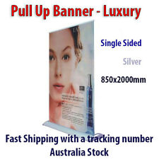 Silver Luxury Style Roll-Up | Pull-Up Banner Stand | Retractable 85x200cm