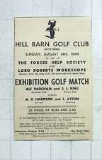 1949 Barn Golf Club Worthing Exhibition Golf Match