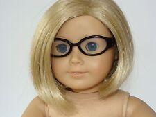 "American Girl Black Frame Glasses with Clear Lenses - will fit all 18"" Dolls"