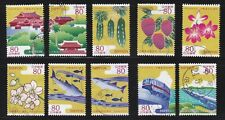 JAPAN 2012 40TH ANNIV. RETURN OF OKINAWA COMP. SET OF 10 STAMPS IN FINE USED