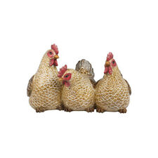 More details for shudehill giftware resin country brown chicken hen trio 19cm x 30cm