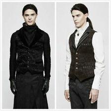 PUNK RAVE Men Velvet vest Waistcoat Gothic Steampunk Victoria Aristocrat Regency