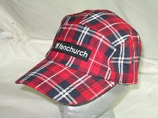 BNWT -  FENCHURCH Checked Adjustable Cap - Red