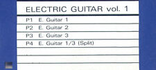Floppy SOUND DISK formatted for ROLAND W-30. Electric Guitars