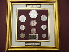 PERSONALISED FRAMED 1965 COIN SET 53rd   BIRTHDAY /  ANNIVERSARY GIFT IN 2018