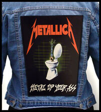 METALLICA - Metal Up Your Ass  --- Huge Jacket Back Patch Backpatch