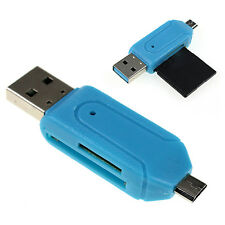 UP Micro USB 2.0 Micro SD T-Flash Memory Card Reader OTG Adapter For Android