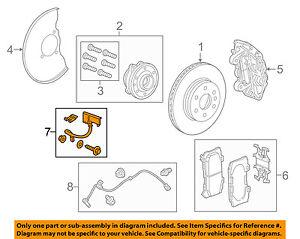 GM OEM Front Brake-Flex Hose 84244993