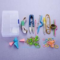 DIY Knitting Set Tools Crochet Hook Stitch Weave Accessories Supplies with Case