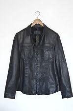 *BRAND NEW WITH TAGS*  AllSaints Mens DANGAN Leather Shirt Jacket MEDIUM