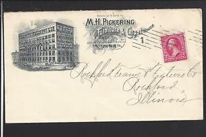 PITTSBURG,PENNSYLVANIA 1898 COVER ILLUST ADVT. M.H. PICKERING, FURNITURE,CARPETS