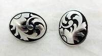 "Pair Jeremiah Watt Oval Conchos Screw Back 1"" Horse Tack Stainless Steel Western"