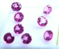 GGL Certificate 7.21 ct   6 mm Natural Rose Pink Sapphire Round Shape