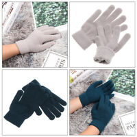 Wrist Warmer Winter Warm Full Fingered Gloves Mittens Wool Knitted Plush Lining