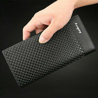 Men Bifold Leather Credit Card Holder Breast Pocket Wallet Slim Purse Checkbook