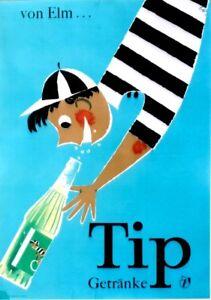 Original vintage poster TIP ELMER FRUIT LEMONADE BOY c.1950