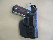 Kimber 1911 Compact IWB Leather In The Waistband Concealed Carry Holster BLACK