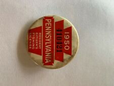 1950 Pa Pennsylvania fishing license