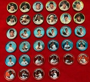 Nice 1964 Topps coins  Mantle Mays Aaron Rose +++  Lot of 34
