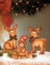 Tole Painting Country Lovin' Memories by Pat McClure School House Reindeers Elf