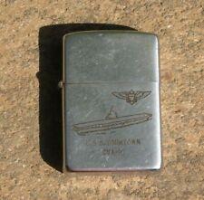 New listing Early USS Yorktown CVA-10 Zippo Cigarette Lighter 1950-1957