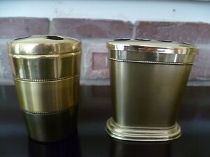 Lot of 2 TB Orleans Gold 2 Tone/TB Sequola Table Toothbrush Holder (NEW)