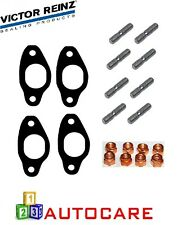 Victor Reinz Exhaust manifold gasket x4 + stud bolts x8 For Seat Leon VW Golf