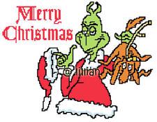 DR SEUSS GRINCH PUPPY CHRISTMAS Cross Stitch PATTERN