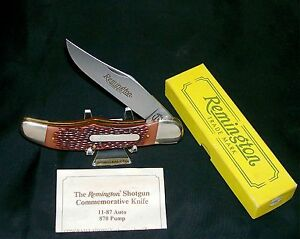 Remington Shotgun Knife 11-87 870 Pump Circa-1990 Inscribed Blade USA Made W/Box