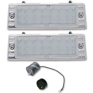 47-53 Chevy Truck LED Clear Park Light Turn Signal Lens Assembly w/ Flasher PAIR