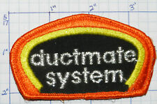 DUCTMATE SYSTEM HVAC SYSTEM COMPONENTS HEATING & COOLING ADVERTISING PATCH