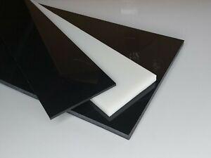Prédécoupé Plaque De Pom - C Noir Et Blanc Épaisseur 4 MM Pom Acetal ( 97,96€/ M
