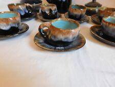 Service à café Vallauris  verseuse sucrier pot 6 tasses 6 soucoupes vintage