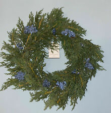 "18"" Faux Juniper Blue Berry Artificial Wreath Hearth & Hand Magnolia NWT"