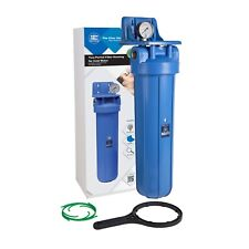 "20"" Big Blue type Water Filter Housing 1"" BSP with Pressure gauge FH20B1-B-WB"