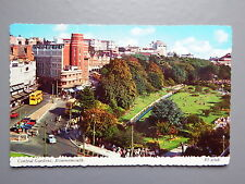R&L Postcard: Valentine's 1960s Bournemouth, Central Gardens, Bus & Cars