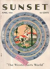 1931 Sunset April - Orinda home; Chrysanthemums; South Africa; National Parks