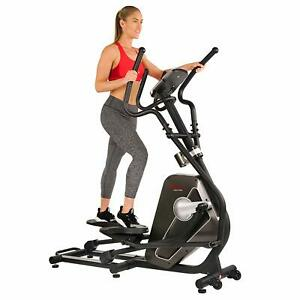Sunny Health & Fitness Magnetic Elliptical Trainer Machine w/Device Holder LC...