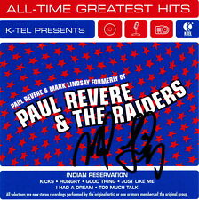 Revere Raiders KTel Hits CD + Card Personally AUTOGRAPHED to YOU Mark Lindsay
