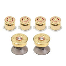 EB_ For Sony PS4/PS3 Controller 6pcs Gold Metal Bullet Buttons Shell Thumbstick