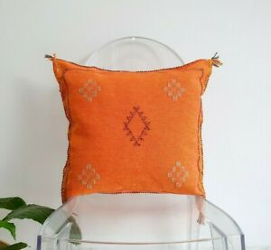 sabra cushion cover, cactus silk pillow, Moroccan pillow, Rustic Throw Pillow