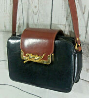 Vintage Chiltern Leather Boxey Satchel Shoulder Cross Body Bag Boho